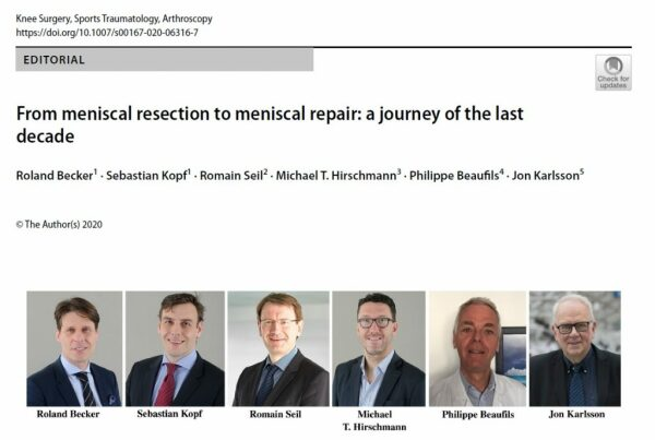 Editorial 'from meniscal resection to meniscal repair'